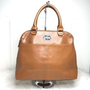 Kenneth Cole   brown tote satchel handbag